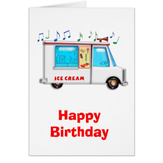 Ice Cream Truck with Music Greeting Cards