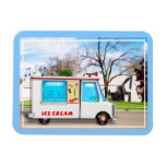 Ice Cream Truck with Music in the Street Magnet