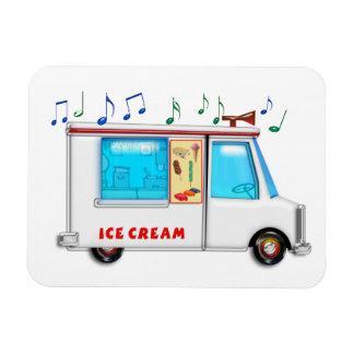 Ice Cream Truck with Music Rectangular Magnet