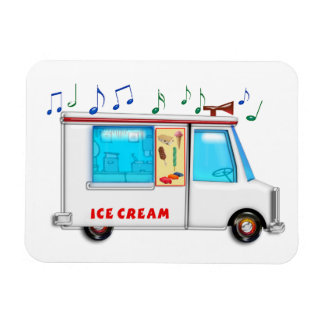 Ice Cream Truck with Music Rectangular Photo Magnet