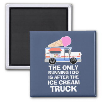 Ice Cream Truck Workout Square Magnet