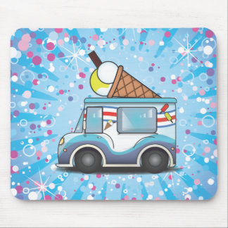 Ice Cream Van Mousepads