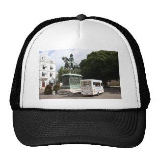Ice cream vendor and statue cap