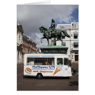 Ice cream vendor and statue card