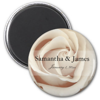 Ice Cream White Rose Magnet