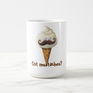 Ice Cream with Mustaches Coffee Mug