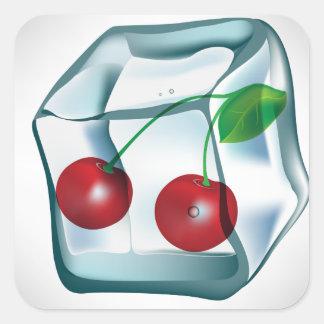 Ice Cube Cherries Stickers