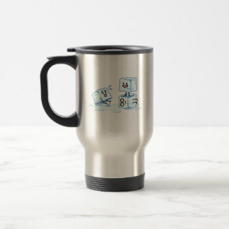 ice cubes icy cube water slipping stack melt cold travel mug