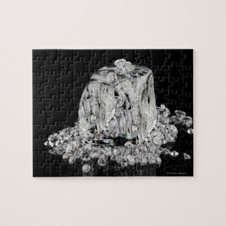 Ice cubes melting into diamonds jigsaw puzzle