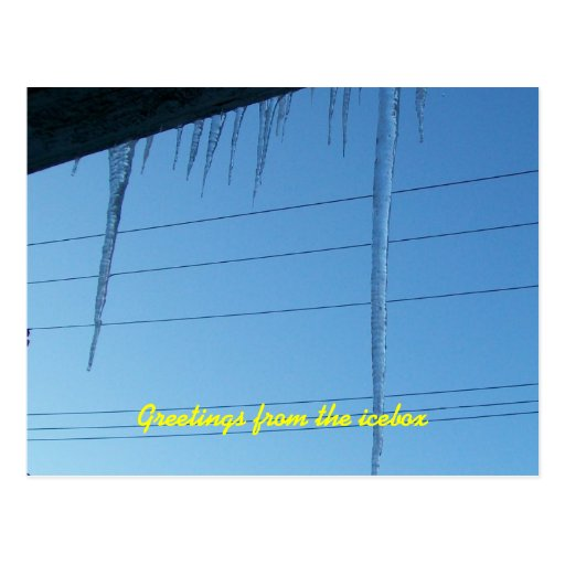 ice daggers among the powerlines postcards
