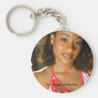 Ice Designs Collection (Aliz) Basic Round Button Key Ring