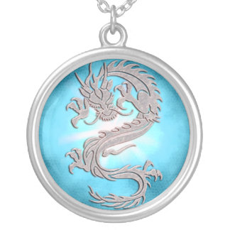 Ice Dragon Fantasy Necklace