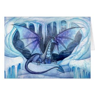 Ice Dragon Greeting Card