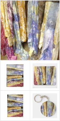 Ice dyed scarves