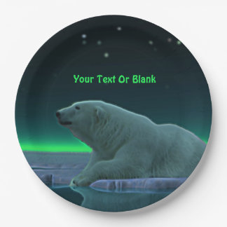 Ice Edge Polar Bear Paper Plate