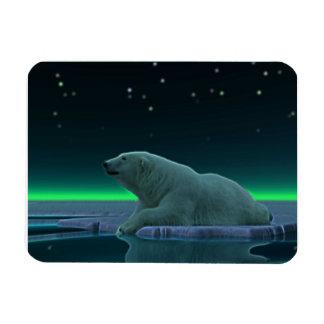 Ice Edge Polar Bear Rectangular Photo Magnet