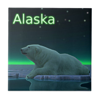 Ice Edge Polar Bear Tile