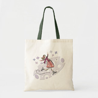 Ice Figure Skater Budget Tote Bag