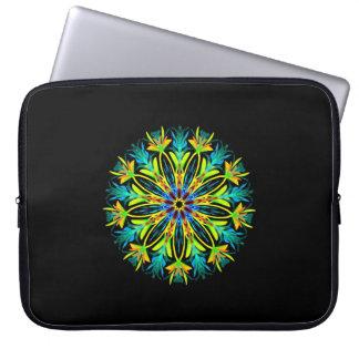 Ice fire electric mandala laptop sleeve