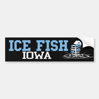 Ice Fish Iowa Bumper Sticker