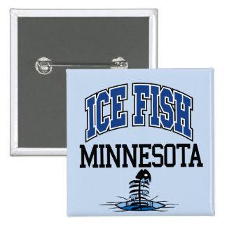 Ice Fish Minnesota 15 Cm Square Badge