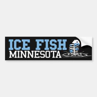 Ice Fish Montana Bumper Sticker