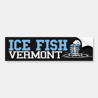 Ice Fish Vermont Bumper Sticker