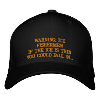 ICE FISHERMEN EMBROIDERED BASEBALL CAP