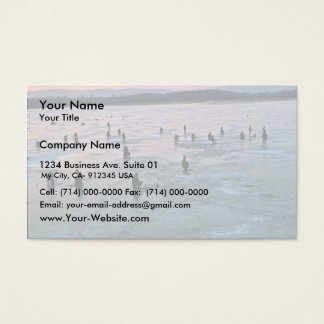 Ice Fishermen, Stoddard, WI Business Card