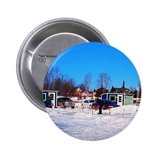 Ice Fishing collection 6 Cm Round Badge