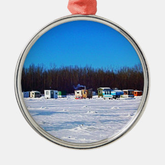 Ice Fishing collection Christmas Ornament