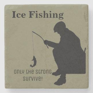 Ice Fishing Funny Stone Coaster