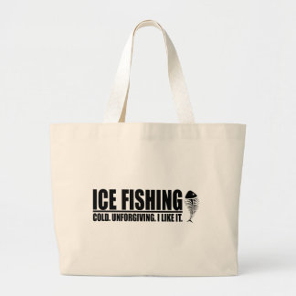 Ice Fishing I like It Jumbo Tote Bag