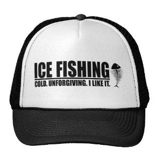 Ice Fishing I like It Mesh Hats
