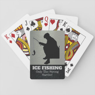 Ice Fishing Only the Strong Survive Cards