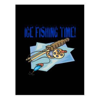 Ice Fishing Time Postcard