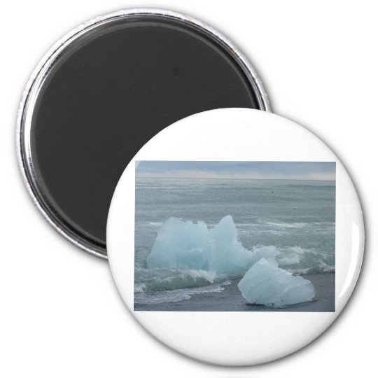 Ice floes 6 cm round magnet