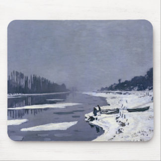 Ice floes on the Seine at Bougival, c.1867-68 Mouse Mat