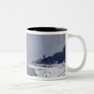 Ice floes on the Seine at Bougival, c.1867-68 Two-Tone Coffee Mug