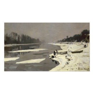 Ice Floes on the Seine at Bougival - Claude Monet Pack Of Standard Business Cards
