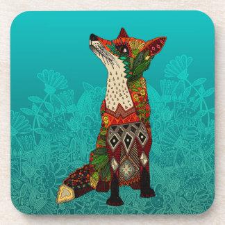 ice floral fox coaster