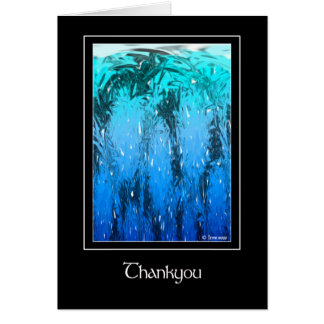 Ice Forest Thankyou Greeting Card