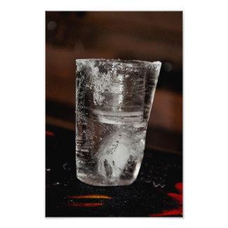 Ice glass photo art