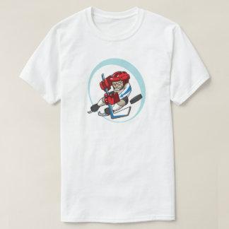 Ice Hockey Anime Style Illustration Winter Games T-Shirt