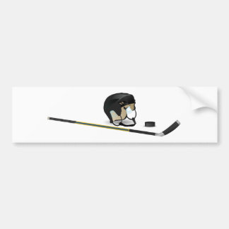 Ice Hockey Bumper Sticker