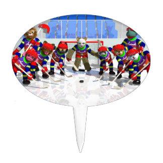 Ice hockey cake picks