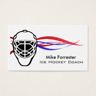 Ice Hockey Coach Business Card