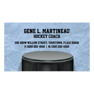 Ice Hockey Coach Pack Of Standard Business Cards