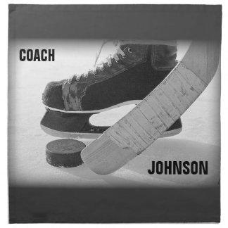 Ice Hockey Coach Thank You Cloth Napkins