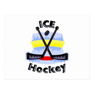 Ice Hockey Crossed Sticks Postcard